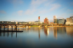 Portland skyline and beautiful sky Royalty Free Stock Images