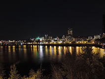 Downtown Portland Oregon City Skyline at Night Royalty Free Stock Photos