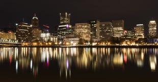 Portland Skyline at Night Royalty Free Stock Photography