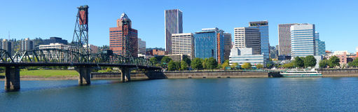 Portland skyline panorama. Stock Images