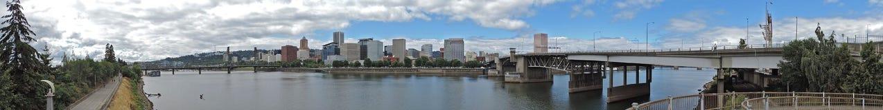 Portland Skyline Panorama Royalty Free Stock Photo