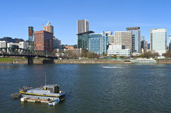 Portland OR. Skyline and River. Stock Image