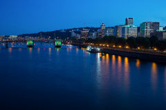 Portland Skyline and Willamette river Stock Image