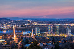 Portland South Waterfront At Sunset stock photography