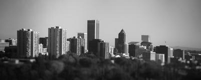 Portland-Stadtbild von der Lufttram Lizenzfreie Stockbilder