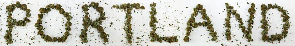 Portland stavade med marijuana Arkivbilder