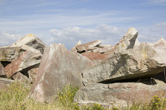 Portland Stone Slabs Royalty Free Stock Photo