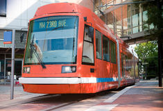 Portland Streetcar. The Portland Streetcar in NW Portland. All logos removed for creative/RF usage Stock Photography