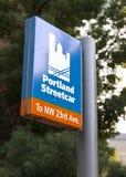 Portland streetcar Stock Photos