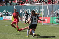 Portland taggar vs Seattle Arkivfoton
