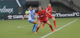 Portland Thorns vs Blue Sky Royalty Free Stock Photography