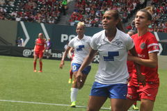 Portland thorns vs Boston Stock Image