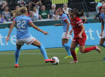 Portland Thorns vs Huston Rush Royalty Free Stock Photo