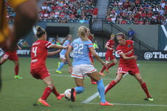 Portland Thorns vs Huston Rush Royalty Free Stock Images