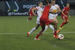 Portland Thorns vs New York Royalty Free Stock Images