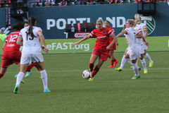 Portland Thorns vs Rush Royalty Free Stock Photos
