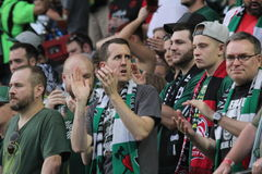 Portland Timbers fans Stock Images