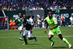 Portland Timbers v.s. Seattle Sounders stock photography