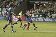 Portland Timbers vs LA Galaxy Royalty Free Stock Photos