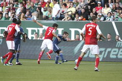 Portland Timbers vs LA Galaxy Royalty Free Stock Image