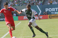 Portland Timbers vs Quakes Royalty Free Stock Photography