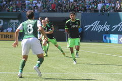 Portland Timbers vs Seattle Royalty Free Stock Image