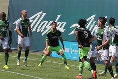 Portland Timbers vs Seattle Stock Photos