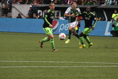Portland Timbers vs Sounders Royalty Free Stock Images