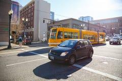 Portland Tri Met Street Car Stock Image