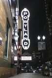 Portland undertecknar in i stadens centrum Portland, Oregon vektor illustrationer