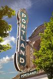 Portland undertecknar in Portland royaltyfri foto