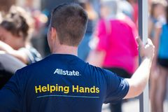 Allstate helping hands stock images