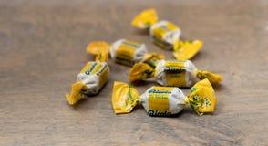 Ricola brand natural herbal cough drops stock image
