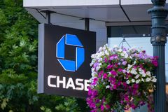 Chase bank logo royalty free stock images