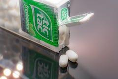 Up close shot of box of tic tacs royalty free stock image