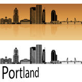 Portland V2 skyline stock illustration