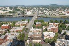 Portland van de binnenstad Oregon Stock Foto