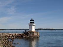 Portland-Wellenbrecher-Leuchtturm Lizenzfreie Stockfotos