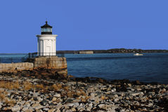 Portland-Wellenbrecher-Leuchtturm alias   Stockbild