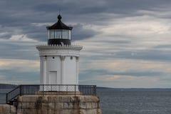 Portland-Wellenbrecher-Leuchtturm am Wanzen-Licht-Park in Süd-Portland, Maine, USA lizenzfreie stockfotos