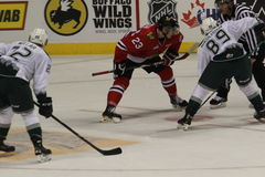 Portland Winterhawks face off Royalty Free Stock Photos