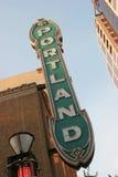 Portland znak oregon Zdjęcie Stock