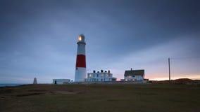 Portlandzka Bill latarnia morska, Dorset. Zdjęcie Stock