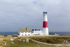 Portlandzka Bill latarnia morska na wyspie Portlandzki Dorset Anglia UK Obraz Royalty Free