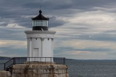 Portlandzka falochron latarnia morska przy pluskwy światła parkiem w Południowym Portland, Maine, usa zdjęcia royalty free