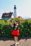 Portlandzka Heahlight latarnia morska, Maine, usa Obrazy Stock