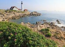 Portlandzka Heahlight latarnia morska, Maine, usa Zdjęcie Royalty Free