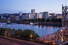 Portlandzka linii horyzontu i Willamette rzeka Obraz Royalty Free