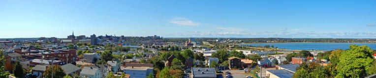 Portlandzka miasto linia horyzontu, Maine, usa Zdjęcia Stock