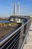 Portlandzka Oregon nowa lux-torpeda i zwyczajny most Zdjęcia Stock